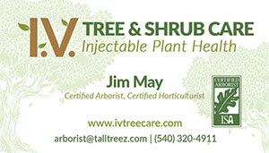 I.V. Tree & Shrub Care's Logo Card